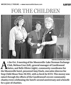 Candlewood Suites Raise Money for Stop Child Abuse Now (SCAN)